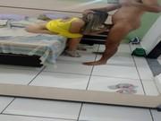 Loirona gostosa gravou video transando com namorado