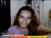 Novinha nua na webcam